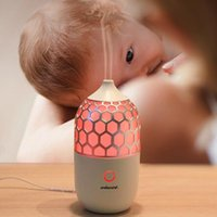 Humidifiers DC24V Household Humidifier Aroma Diffuser Colorful Night Light Mini Electric Essential Oil No Radiation Mist Maker