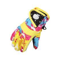 Impermeabile Sci Inverno Guanti da snowboard Guanti caldi per bambini Guanti a full-finger cinturino per sport, sci, ciclismo 1179 x21