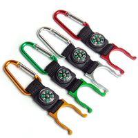 3 in 1 mini kompass keychain mit flasche schnalle für outdoor campingbeutel hängende ring multifunktions aluminium viele farben 0 85bs zz