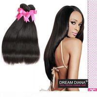 Mocha Hair Brasil Straight 4bundles Jet Black Virgin Straight Hair 7A Best Calidad Brasileño Human Hair Extensions Reino Unido En línea