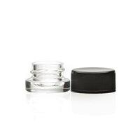 2021 5ml 9 ml Glas Klar Concentrat Glas Flasche mit schwarzem CR-Deckel für Live-Harz-Extrakt-Öl-Shatter-Sauce Custom Box-Aufkleber verfügbar