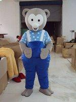 Halloween cute silver bear Mascot Costume High Quality Customize Cartoon Anime theme character Adult Size Christmas Carnival fancy dress