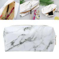 Storage Bags Marble Pencil Case Kawaii For Girls Boy Large Zipper Purse Makeup Cosmetic Bag Pen Box School Supplies Korea Stationery