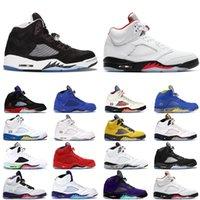 2020 Jumbmen 5S أحذية كرة السلة للرجال النار الأحمر الأعلى 3 الأزرق من جلد الغزال الدولي الرحلة Laney White Men Sneaker 7-13