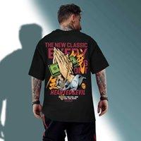 Zsiibo Bahar Hip Hop T Gömlek Erkekler Güçlü Eller Baskılı T-Shirt Harajuku Streetwear Yaz Tshirt Kısa Kollu Tops Tees TX37532
