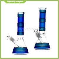 Smoking Glass Bongs Water Pipes hookahs Sownstem Perc Glasses Bubbler Heady Dab Ribs Beaker Bong 14mm Bowl Piece Smoking Oil Burner Pipe