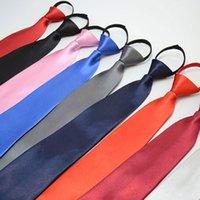 8 * 48см сплошной цвет на молнии галстуки для мужчин Деловой отель Bank Office Свадьба галстук партии декор модные аксессуары