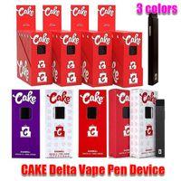 Cake Delta 8 Vape Pen Seite Kit One Gram 1,0 мл пустые электронные сигареты толстые масло POD картридж перезаряжаемый 280 мАч аккумуляторная батарея