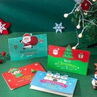 Grußkarten Frohe Weihnachten Geschenkkarte Weihnachten Segen Umschlag Santa Claus Jahr Postkarten