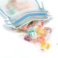 Sacos de armazenamento de alimentos Mason Jar Forma Reutilizável Snacks Cookie Condimento Selo Zipper Organizador à prova de vazamento Plástico para Travel Dwe7277