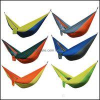 Home & Garden Outdoor Portable Double Person Nylon Cam Survival Garden Leisure Travel Furniture Parachute Hammocks Drop Delivery 2021 Twsdq