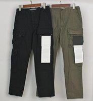 20SS Badge Patches Мужская дорожка Руссы буквы дизайн мода Jogger грузовые брюки брюки шкаты молния летают длинные брюки Homme одежда