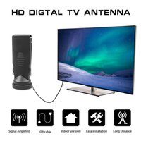 2.5dB Digital TV Antenna For TVs Tuner CMMB Television DAB Radio, With Dual Extendable Antena Rods