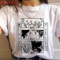 Manga Benim Kahraman Academia T Gömlek Erkekler Todoroki Tshirt Boku Hiçbir Kahraman Akademi Anime Bakugou Himiko Toga T-Shirt Grafik Üstleri Erkek 90s X0621