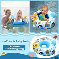 Swimming Boat Toys Inflatable Baby Child Seat Pvc Steering Wheel Car-shaped Ring Tray Beach #PY Life Vest & Buoy