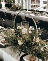 Parti Dekorasyon 10 adet / grup Tasarım Düğün Masa Kemer Merkezi Mariage Etkinlik için