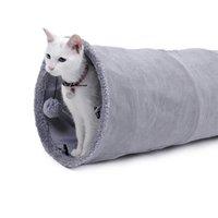 고양이 장난감 접이식 터널 주름 고양이 게임 튜브 대형 애완 동물 고양이 개와 토끼 교육 재미 패션