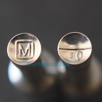 USA 6.5mm M Candy Press Punch Punch Tablet Die Set Tools personalizzato Punch Cast Premere per la macchina TDP