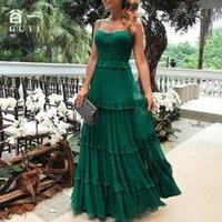 Платья партии Guyi летние женские моды без рукавов маленький крюк стропильный вечернее платье