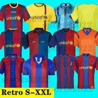 1899 1999 Jersey de football rétro Barcelona 96 97 Figo Ronaldinho Ronaldo 08 09 07 91 92 Koeman Classic Rivaldo Henry Laudrup Guardiola Xavi Pique