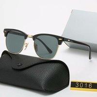 2021 En Kaliteli Klasik Yuvarlak Güneş Gözlüğü Lüks Marka Polarize Erkek Kadın Erkek Bayan UV400 Gözlük 3016 Güneş Gözlükleri Metal Çerçeve Polaroid Lens