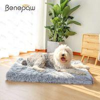 Benepaw Ultra Confort Orthopédique Dog Dog Dog Peluche Cosy Résistant à l'imperméable Résistant à l'imperméable matelas de chiot Tapis amovible Couverture 210716