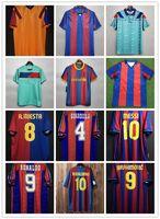 96 97 Barcelona Retro Fútbol Jersey Figo Ronaldinho Messi Ronaldo 08 09 07 91 92 Koeman Classic Rivaldo Henry Laudrup Guardiola Xavi Pique 1899 1999 Stoitchkov