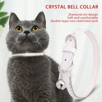 Cat Collars & Leads Pet Collar With Transparent Crystal Lattice And Bell Beautiful Princess Necklace Adjustable Size Pets Supplies, For Cat,