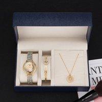 Armbanduhren Zonmfei Marke Geschenkbox Set 3 stücke Frauen Luxus Armbanduhr / Edelstahl Armreif / Edelstahl Halskette Smart Stil