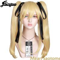 Perruques Ebingoo Kakegurui Mary Saotome Meari Blonde Horse Star Son Cosplay résistant à la chaleur Anime Pruik