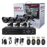 MORCEMBR 720P Security Camera System Video Surveilance Kits Home Fio 1MP 4CH CCTV Câmeras Sistemas