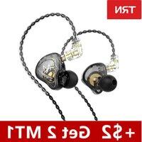 Latest TRN MT1 Headphones Dynamic DJ Monitor IEM Earphones HIFI Sport Noise Cancelling Headsets TRN M10 TA1 ST1 v90s T300 wholesale