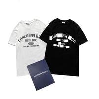 2021 Camisetas Mens T-shirt Cópia de Letra Clássica Verão Respirável Moda Pares Juventude Alta Qualidade Tops Atacado Simples e Chic Tamanho S-2XL
