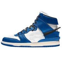신발 sb 덩크 중반 블랙 / 화이트 시카고 깊은 로얄 블루 매복 덩크 높은 1s