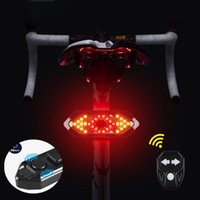 Bike Lights Bicycle Rear Light Turn Signals Remote Control Lamp USB Charging Night Riding 18LED With Speaker Warning