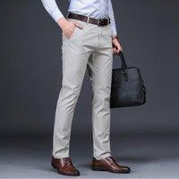 Men's Suits & Blazers ICPANS Men Suit Pants Length Clasic Dress Slim Fit Trousers Office Mens Red Plus Size 44 42 40
