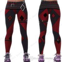 Red Harleen Quinzel Potere Flex Yoga Leggings Batman Harley Quinn fitness palestra allenamento collant collant sexy slim pantaloni magro donna