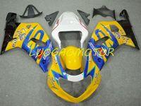Injetion Fairing kits for SUZUKI GSXR600 750 Cowling GSXR600 Bodywork GSXR 600 Fairings kit Yellowblue Black GSXR 750 K1 K2 K3 01 02 03 Bodywork 2001 2002 2003