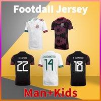 Messico Casa Away Soccer Jersey 20 21 Chicharito G. Dos Santos H. Lozano R. Marquez Herrera A. Guardiado Camicia da calcio Men Tshirts + Bambini