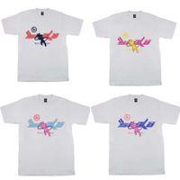 4 Arten Mens T-shirts High Street FLA Freude x Pian Sicko Damen T-Shirt Ian Connor Retro Kurzarm Lose Freizeit Kleidung