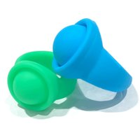Sensory Silicone Finger Ring Fidget Push Bubble Poppers Toy Makaron Candy Color Popping Rings Kids Christmas Gift Decompression Toys 26*22*17mm