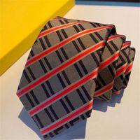 Cuello para hombre Lazos de diseñador de negocios Casual Moda Moda Boda Tie Hombres Letras Cuello de seda Corbatas Cravar Unisex con caja de corbatas
