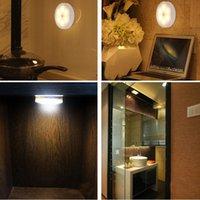 Ночные огни Z90 датчик 6 светодиодный свет настенные лампы аварийные лампы экстренные сухие ПК Круглый шкаф PIR-корпус активированная индукция 0-5W