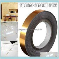 Wall Décor & Gardenwall Stickers 50M Roll Self Adhesive Tile Sticker Waterproof Gap Sealing Tape Strip Floor Beauty Seam Home Decoration Dec