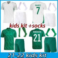 Kids Kit Algerie 2021 Home Away Soccer Jerseys Mahrrez Ferrhouli Bennacer Atal 21 22 Algerien Fußball Kits Hemd Jungen Sets MAILTOT DE FOOT