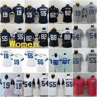 Женщины 19 Amari Cooper Jersey Football Dalas Covvboy 54 Jaylon Smith 55 Leighton Vander Esch 88 CENEEE LAPB 82 Джейсон Виттен ВМС Синий Белый