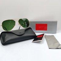 Tasarımcı Güneş Gözlüğü Bayanlar Klasik Aviator Güneş Erkekler Marka UV400 Metal Çerçeve Bahar Menteşe 3025