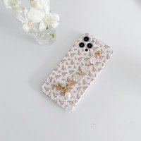 Small floral camellia phone cases for iphone 13 pro max 12 11 X XR XS 7 8 plus SE case cover