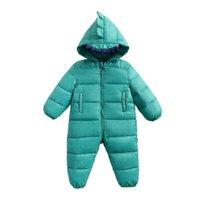 Bebek Tulum Kış Yenidoğan Aşağı Ceket Bodysuits Bebek Bebekler Giyim Kız Erkek Tulum Kapşonlu Çocuklar Tek Parça Giyim Dış Giyim Sıcak Romper Suit B8776 Tutun