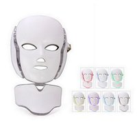 LED Facial Mask 7 PDT Cores Photon para Face e Pescoço Microcurrent LED Luz Terapia Rejuvenescimento Facial Máquina Facial Portátil Home Uso